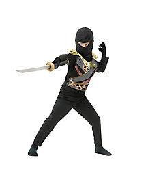 Kids Black Armor Ninja Avenger Costume