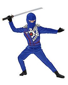 Kids Blue Armor Ninja Avenger Costume