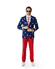 Adult Stars and Stripes Party Suit