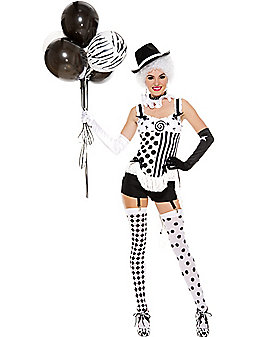 Adult Celestrial Circus Babe Clown Costume