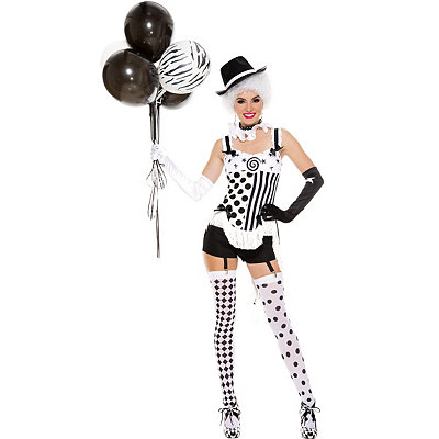 Roaring 20s Costumes- Cheap Flapper Dresses, Gangster Costumes Adult Celestrial Circus Babe Clown Costume $59.99 AT vintagedancer.com