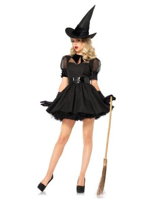 1950s Costumes- Poodle Skirts, Grease, Monroe, Pin Up, I Love Lucy Adult Bewitched Witch Costume by Spirit Halloween $49.99 AT vintagedancer.com