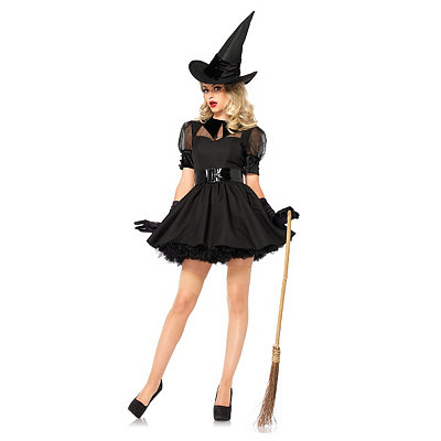1960s Party Costumes Adult Purple Bewitched Witch Plus Size Costume $49.99 AT vintagedancer.com