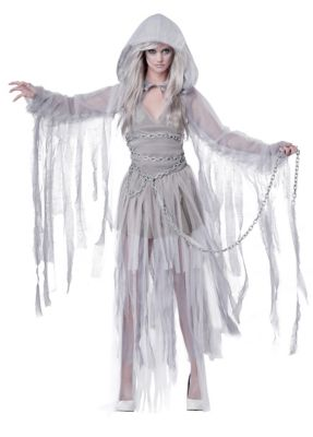Easy DIY Edwardian Titanic Costumes 1910-1915 Adult Haunting Beauty Ghost Costume by Spirit Halloween $59.99 AT vintagedancer.com