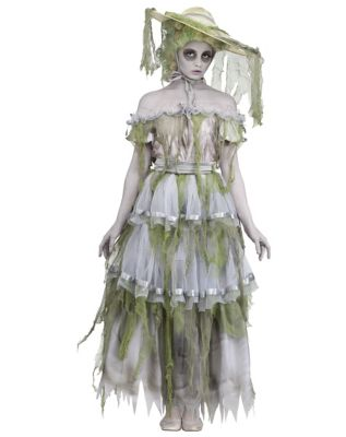 Victorian Costumes: Dresses, Saloon Girls, Southern Belle, Witch Adult Southern Belle Zombie Costume by Spirit Halloween $69.99 AT vintagedancer.com