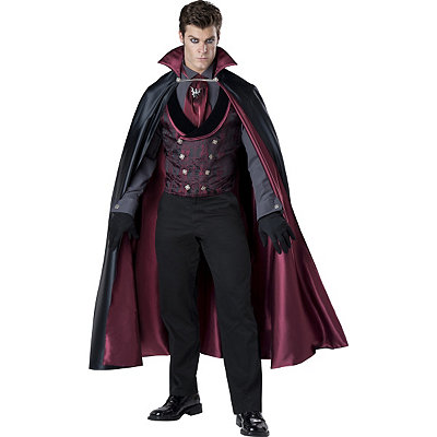 1930s Style Mens Suits Adult Midnight Count Vampire Costume - Theatrical $149.99 AT vintagedancer.com