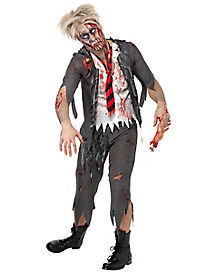 Adult School Boy Zombie Costume