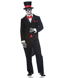 Adult Groom Day of the Dead Costume