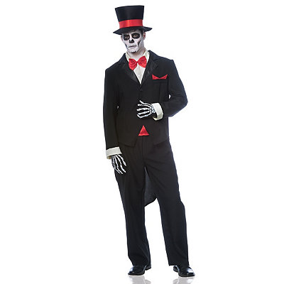 Victorian Mens Suits & Coats Adult Groom Day of the Dead Costume $59.99 AT vintagedancer.com