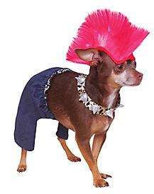 Punk Rocker Dog Costume