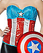 Sequin Captain America Marvel Corset