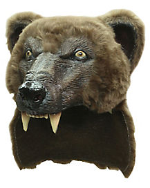 Brown Bear Helmet Mask