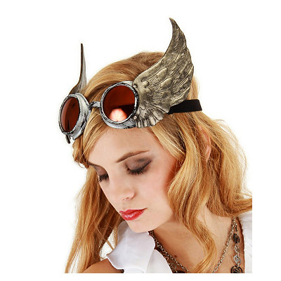 Men's Steampunk Goggles, Guns,  Accessories Winged Steampunk Goggles $24.99 AT vintagedancer.com