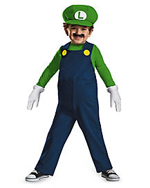 Toddler Luigi One Piece Costume - Super Mario Bros