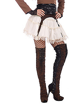 Steampunk Thigh High Boot Covers