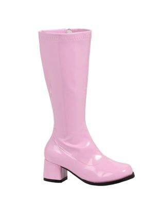 60s 70s Kids Costumes & Clothing Girls & Boys Kids Pink Go Go Boots  - Size 45 - by Spirit Halloween $31.99 AT vintagedancer.com