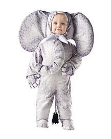 Toddler Grey Elephant One Piece Costume