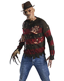 adult burned sweater freddy costume nightmare on elm street - The Scariest Halloween Costumes