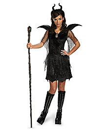 Tween Black Gown Maleficent Costume - Maleficent