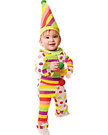 Baby Dots and Stripes Clown Costume
