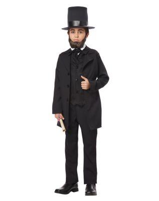 Victorian Kids Costumes & Shoes- Girls, Boys, Baby, Toddler Kids Abraham Lincoln Costume by Spirit Halloween $34.99 AT vintagedancer.com