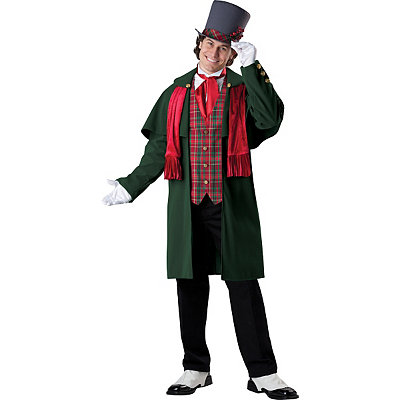 Victorian Mens Suits & Coats Adult Yuletide Gent Costume - Theatrical $149.99 AT vintagedancer.com