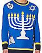 Adult Light Up Menorah Sweater