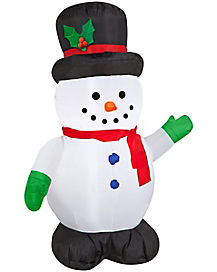 3.5 ft Snowman Inflatable - Decorations