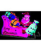 4.5 ft Neon Santa Sleigh Inflatable - Decorations