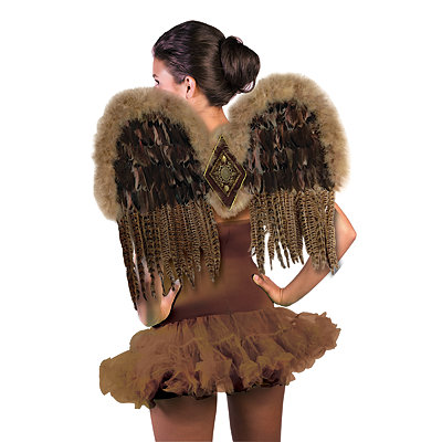 Steampunk Dresses | Women & Girl Costumes Exotic Feather Wings $29.99 AT vintagedancer.com