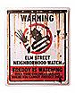 Elm St. Neighborhood Watch Sign Decorations - Nightmare on Elm Street