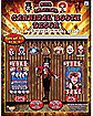 10 Piece Evil Carnival Booth Decor Kit