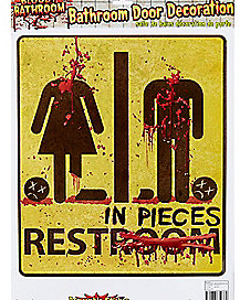 Zombie Bathroom Signs 3d zombie toilet cover - decoration - spirithalloween