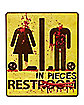 Bloody Bathroom Cling Sign - Decorations