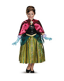 Kids Caped Anna Coronation Gown Costume - Frozen