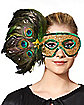 Peacock Feather Eye Mask