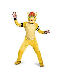 Kids Bowser One Piece Costume Deluxe - Mario Bros