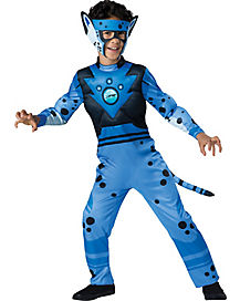 Kids Blue Cheetah Costume Deluxe - Wild Kratts