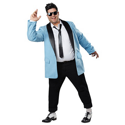 1950s Men's Costumes Adult Teen Idol 50s Plus Size Costume $44.99 AT vintagedancer.com