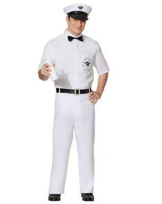 1950s Men's Costumes: Greaser, Elvis, Rockabilly, Prom Mens Milkman Costume by Spirit Halloween $39.99 AT vintagedancer.com