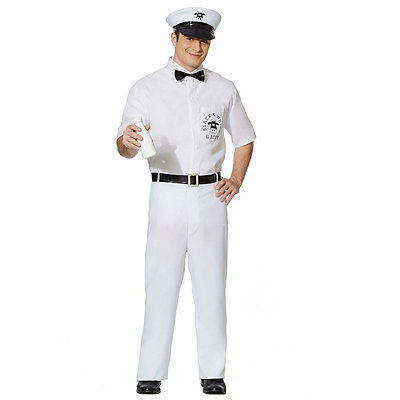 Men's Vintage Style Clothing Adult Milkman Costume $39.99 AT vintagedancer.com