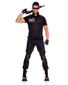 adult swat brigade commander costume - Girls Cop Halloween Costume