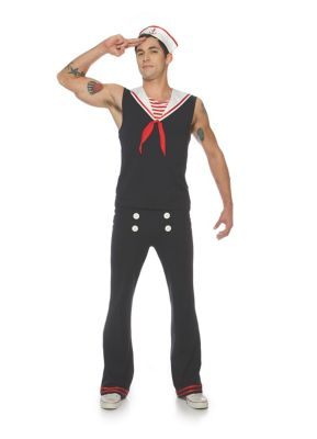 1930s Men's Clothing Mens Sail Ahoy Sailor Costume by Spirit Halloween $44.99 AT vintagedancer.com