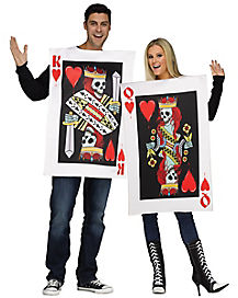 Adult King and Queen of Hearts Couples Costume