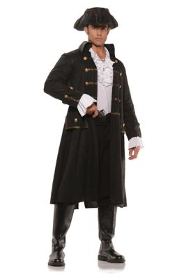 Men's Steampunk Costume Essentials Mens Captain Dark Water Pirate Costume by Spirit Halloween $79.99 AT vintagedancer.com