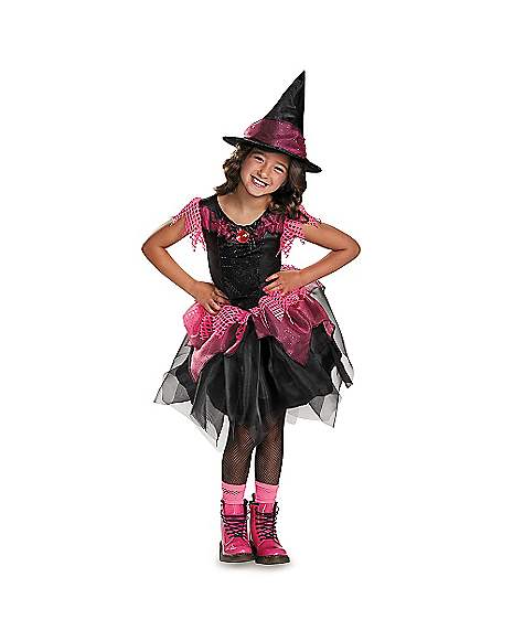 Kids Pink And Black Witch Costume Spirithalloween Com