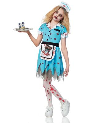 Kids 1950s Clothing & Costumes: Girls, Boys, Toddlers Kids Deadly Diner Zombie Costume by Spirit Halloween $36.99 AT vintagedancer.com