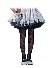Kids Black Ripped Tights