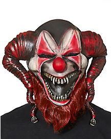 Red Bearded Jester Mask