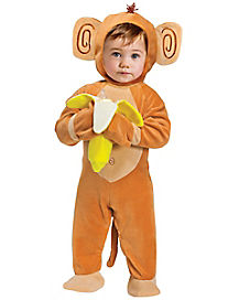 Baby Going Bananas Monkey One Piece Costume